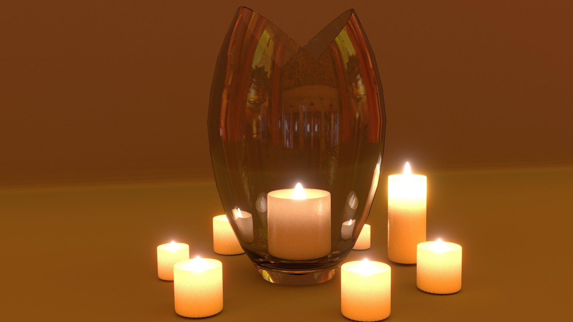 Kostenloses Stock Foto zu beleuchtet, design, flamme, glas