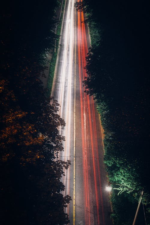 Free stock photo of bridge, car lights, long exposure