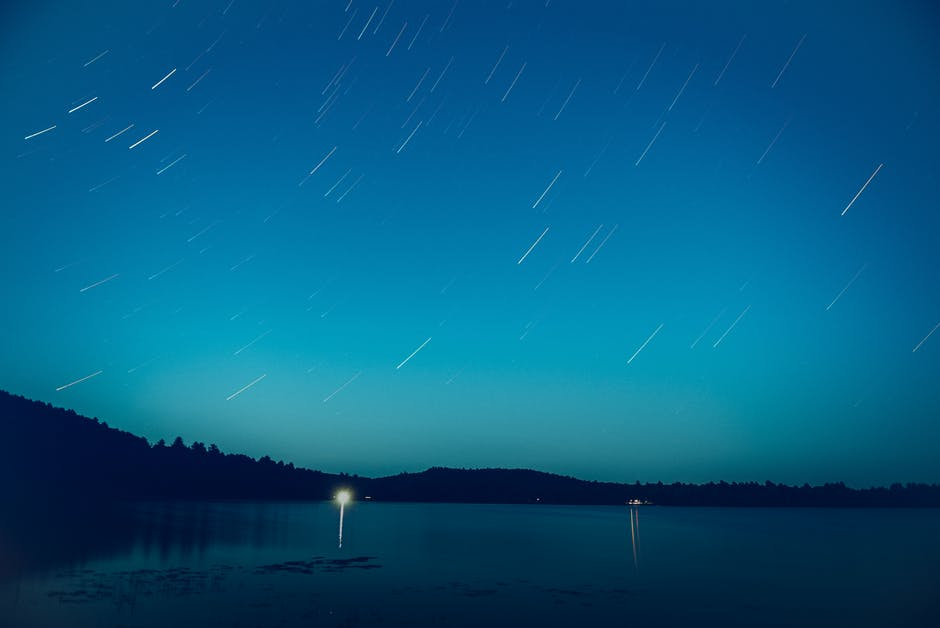 Time lapse photography of night sky