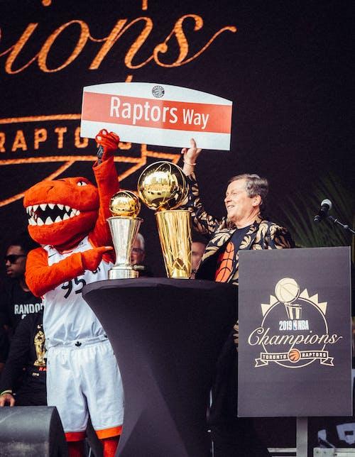 Kostnadsfri bild av basketboll, downtown toronto, firande, mästare