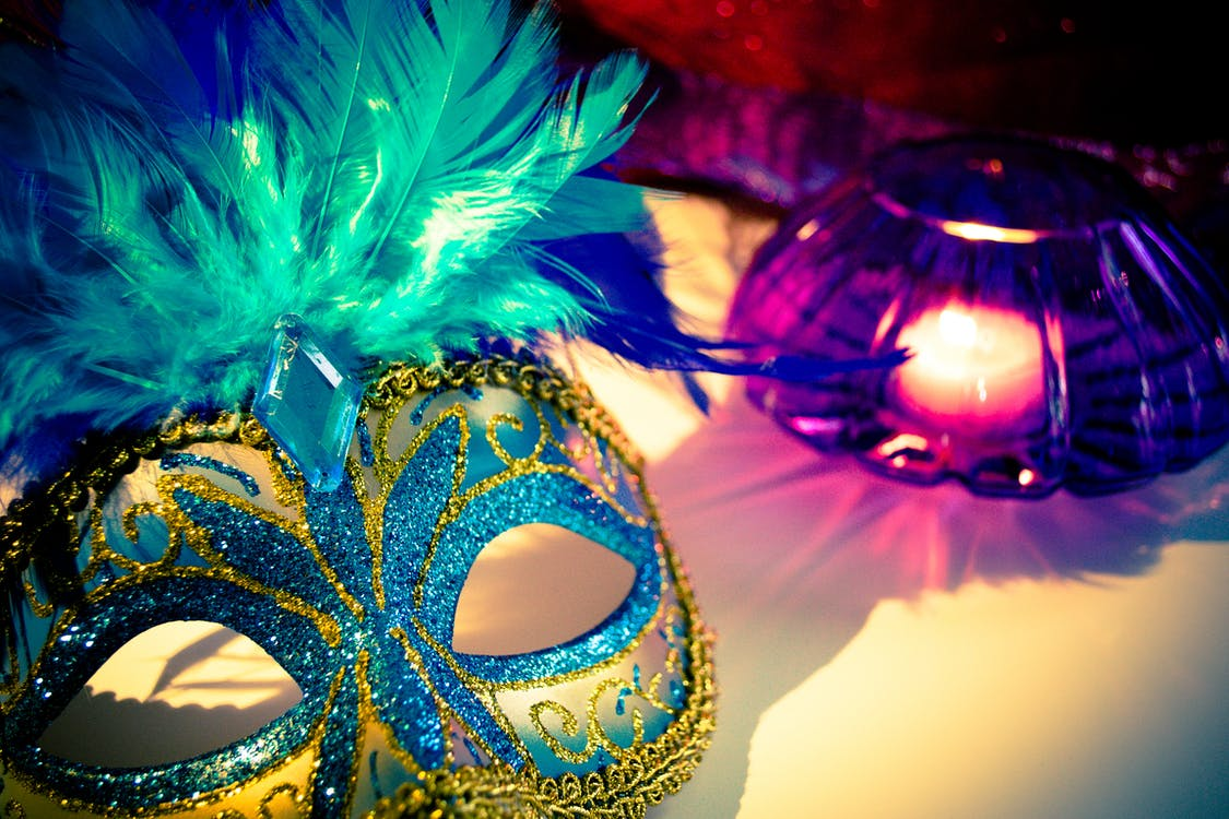 bleu, bougie, carnaval