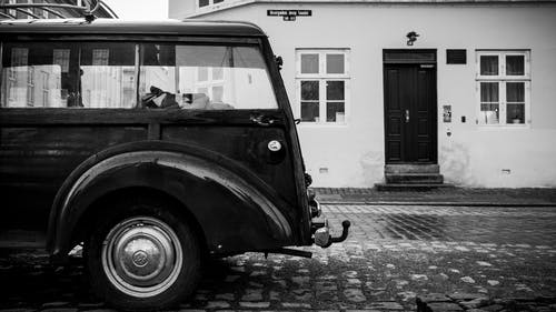 Free stock photo of black and white, car, car window