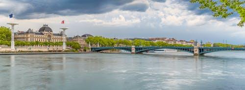 Free stock photo of bridge, lyon, Pont de l'Université, river