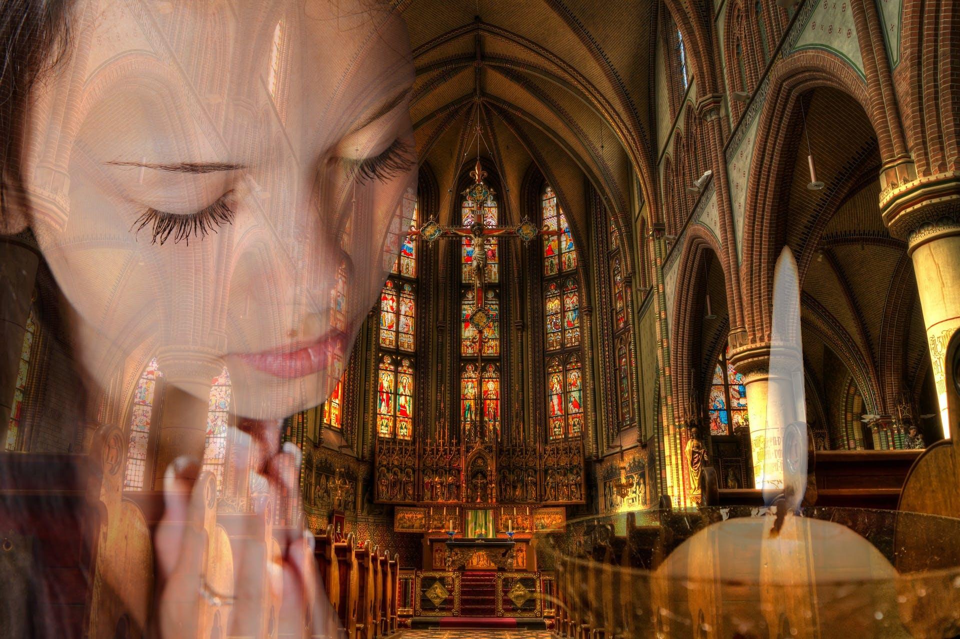 Free stock photo of light, person, church, religion