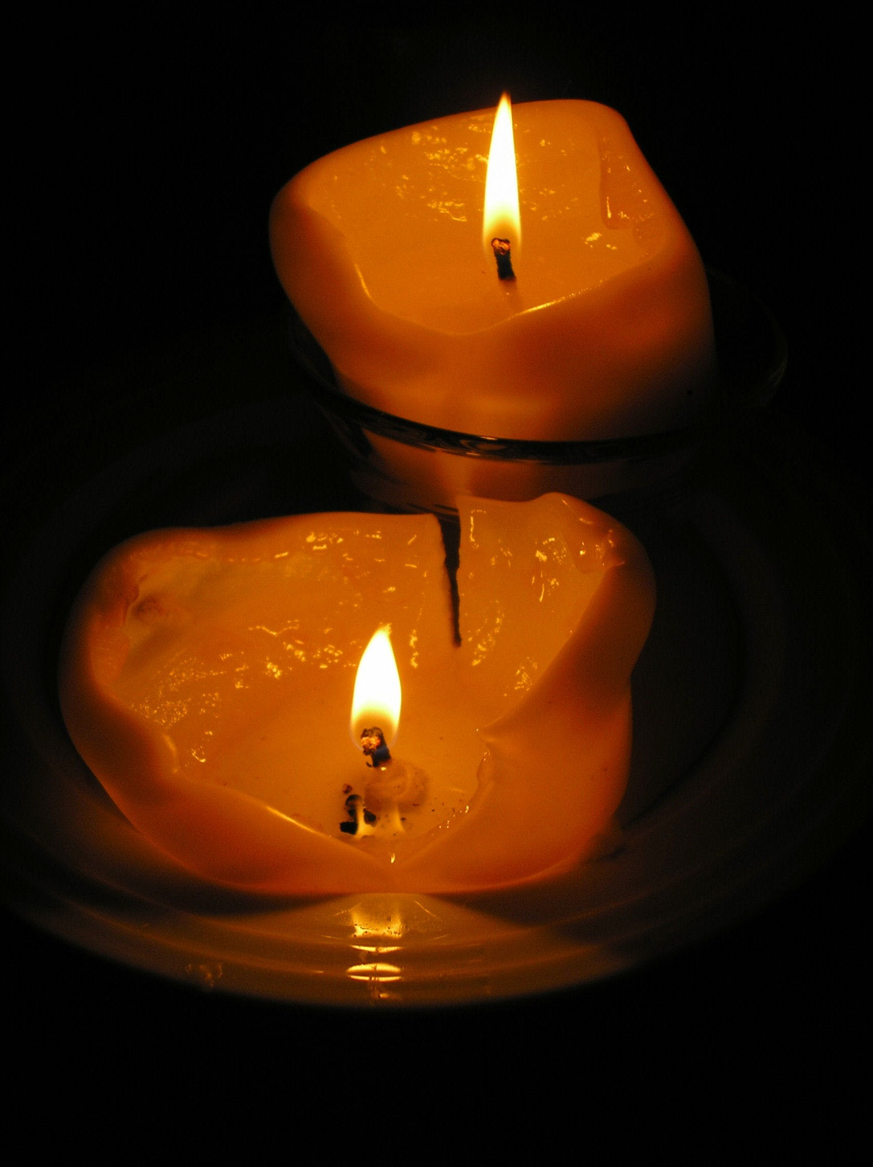 Free stock photo of burning, candles, dark, flame
