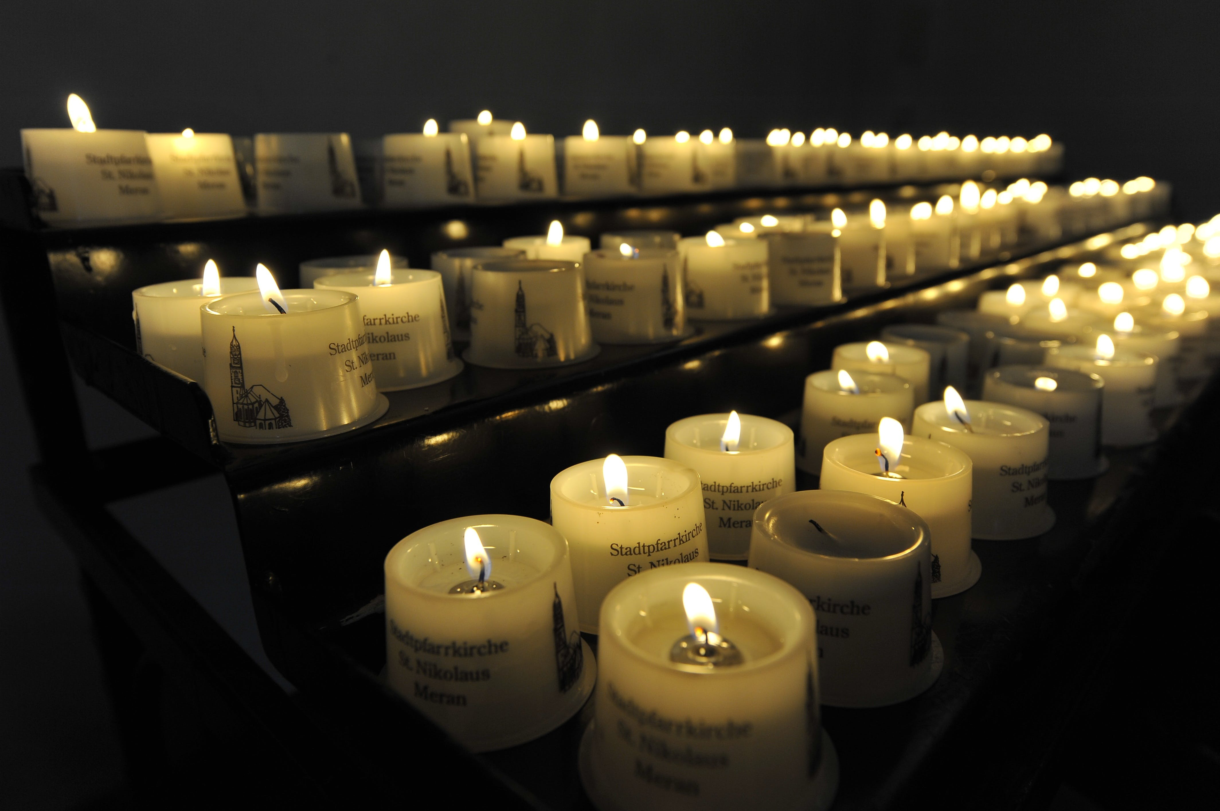 Free stock photo of church, candles, flame