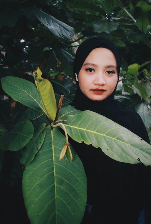 アダルト, 去る, 女性, 緑の無料の写真素材