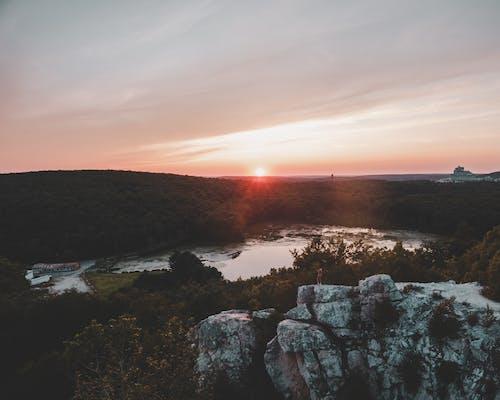 Безкоштовне стокове фото на тему «Аерофотозйомка, гарний захід сонця, дрон, Захід сонця»
