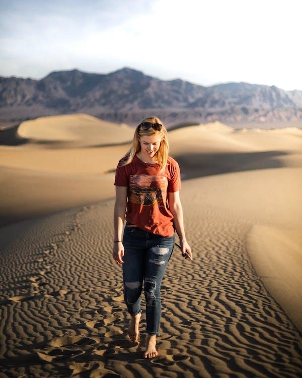 дюна, жінка, Захід сонця