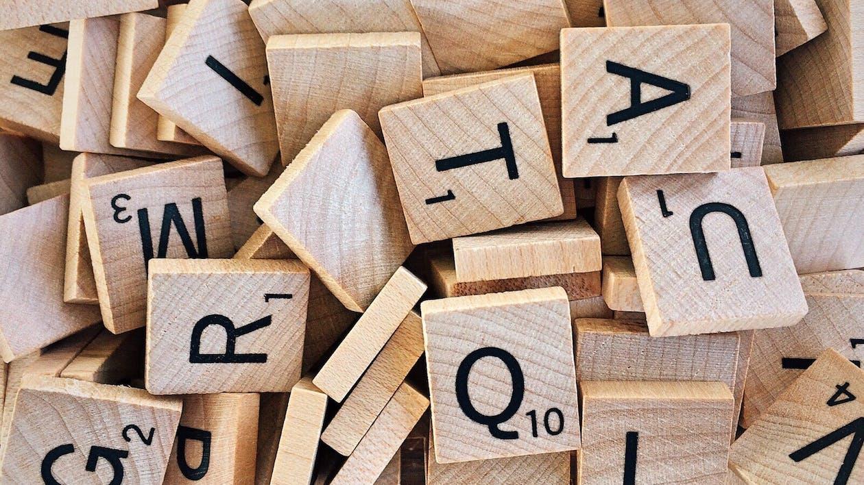 Brown Wooden Scrabble Lot