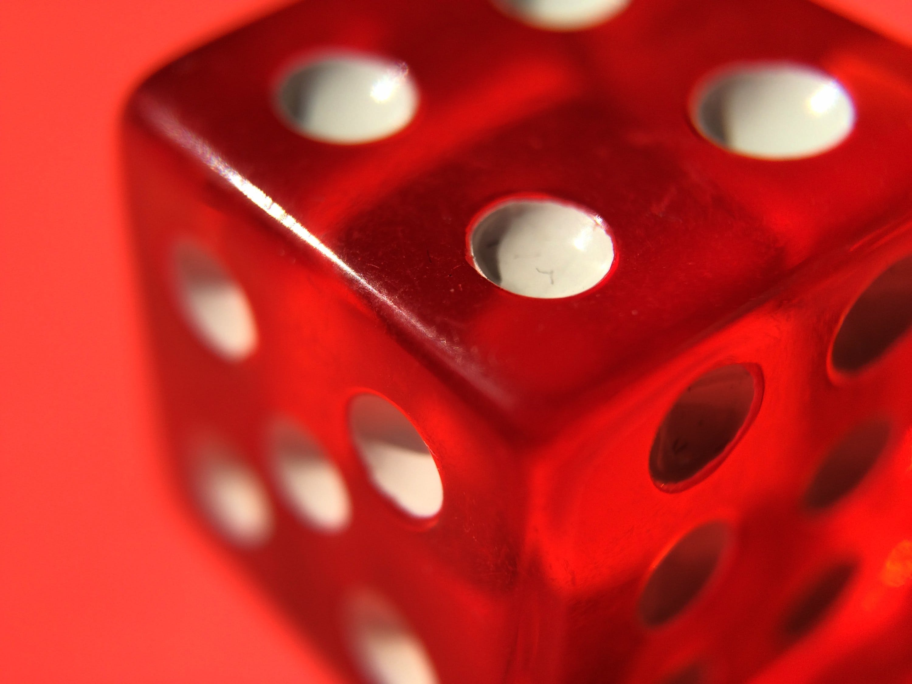 Free stock photo of red, game, dice, dots