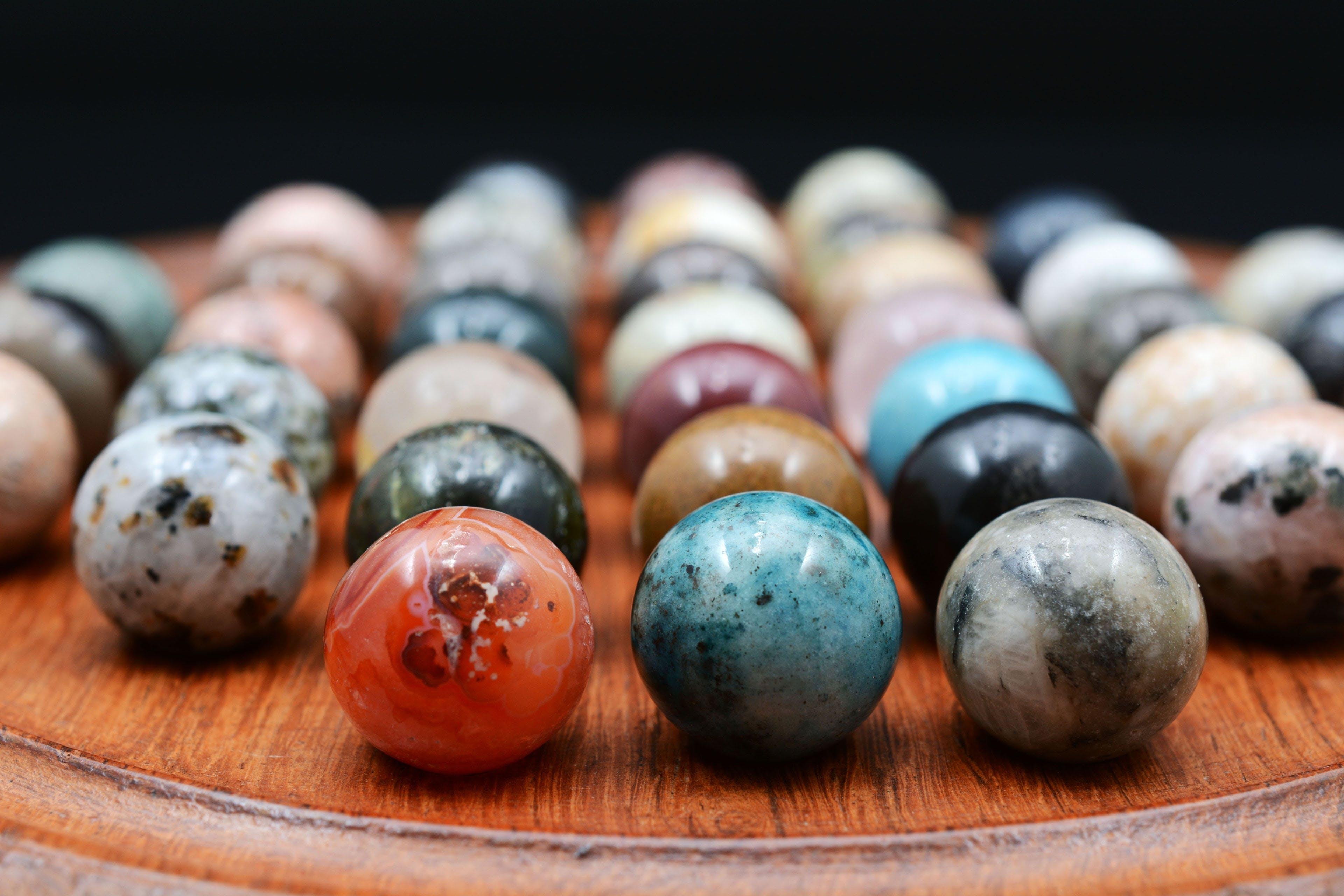 balls, blur, close-up