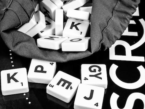 Foto stok gratis alfabet, game, hiburan, hobi