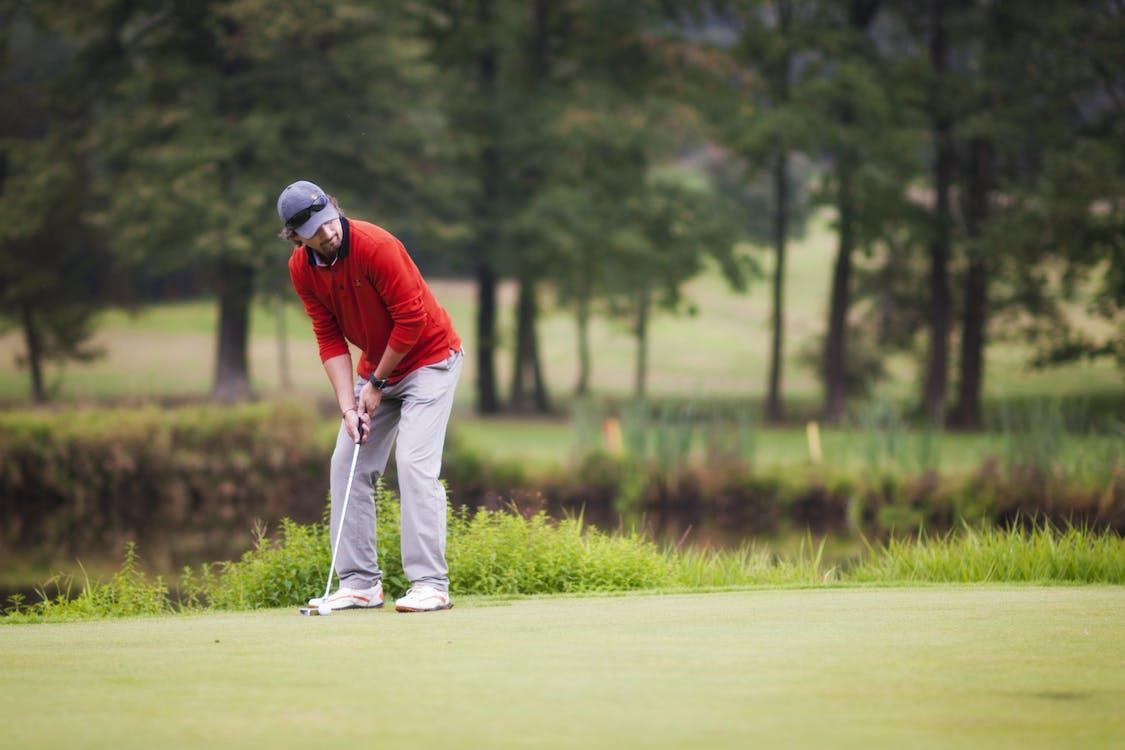 game, golf, man