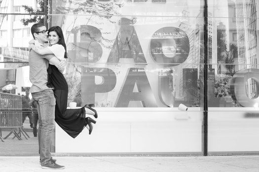 Free stock photo of black-and-white, man, couple, love