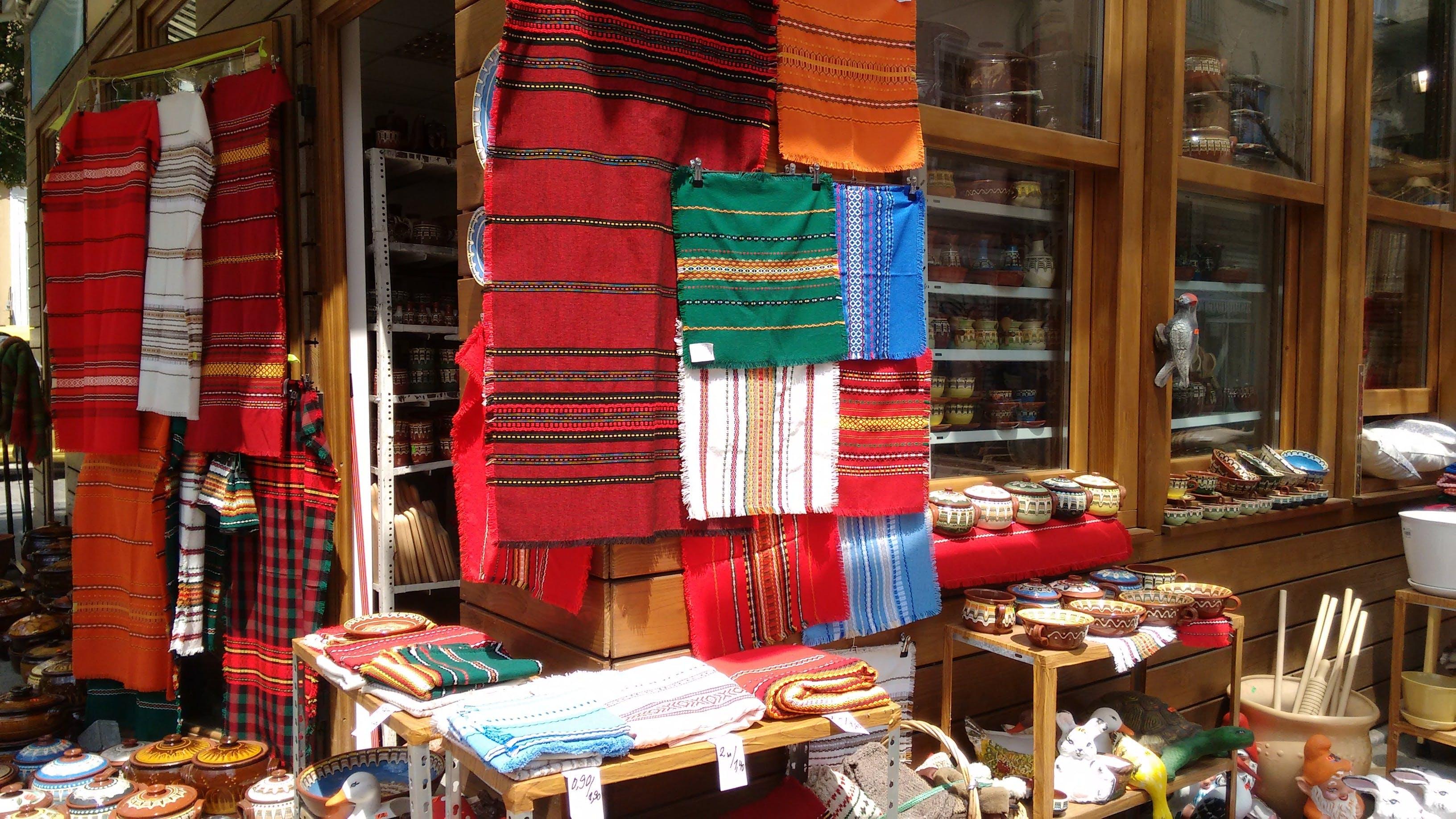Free stock photo of colors, display, east, fabrics