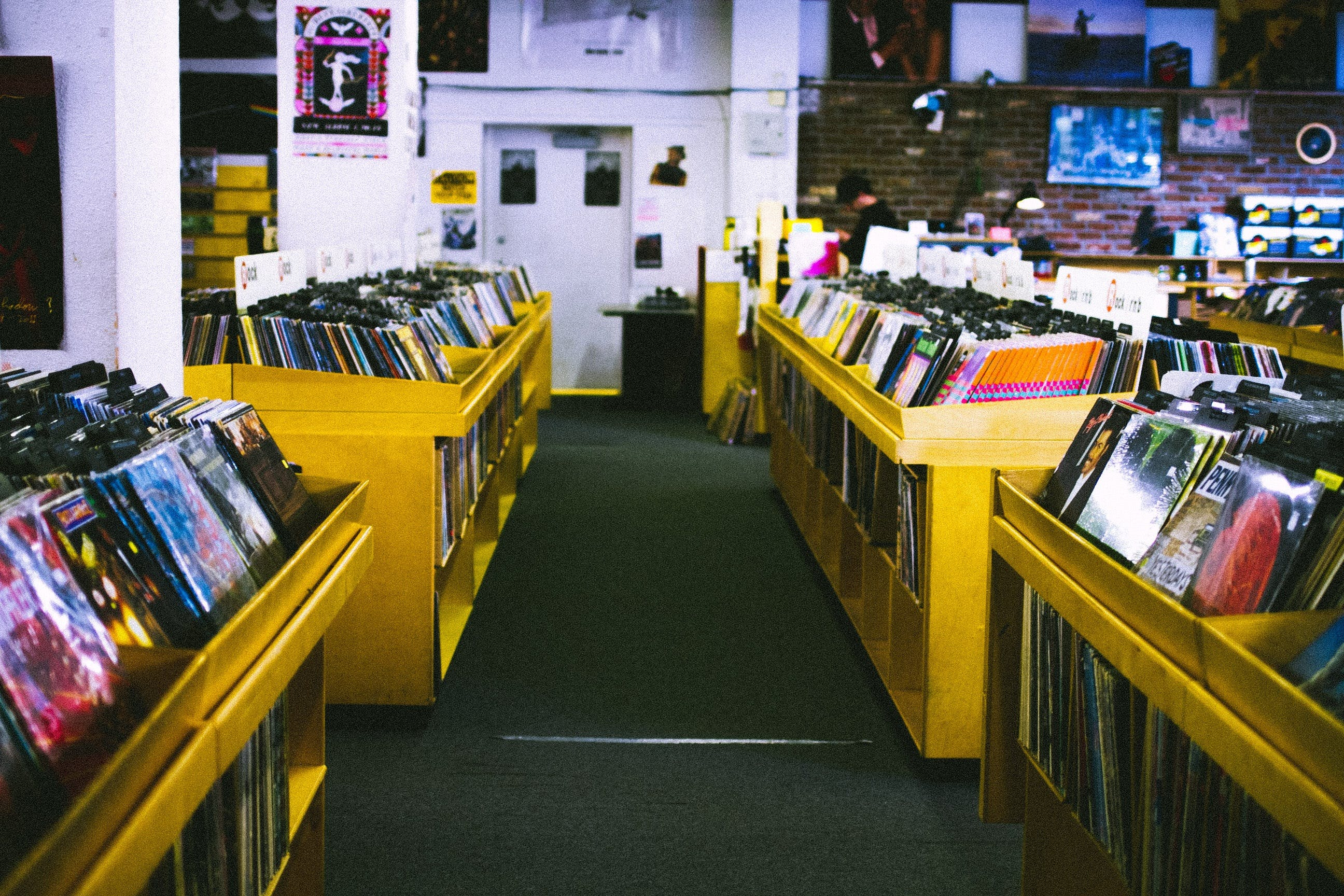 Free stock photo of music, records, albums, record store