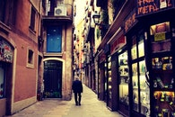 city, man, street