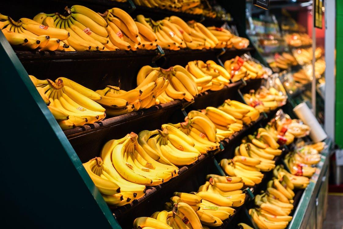 Kostnadsfri bild av bananer, gul, handla