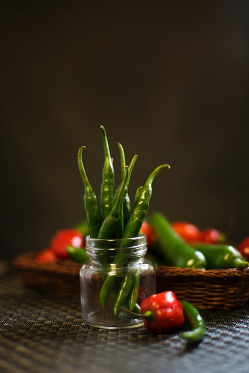 Free stock photo of chillies, green chillies, hot