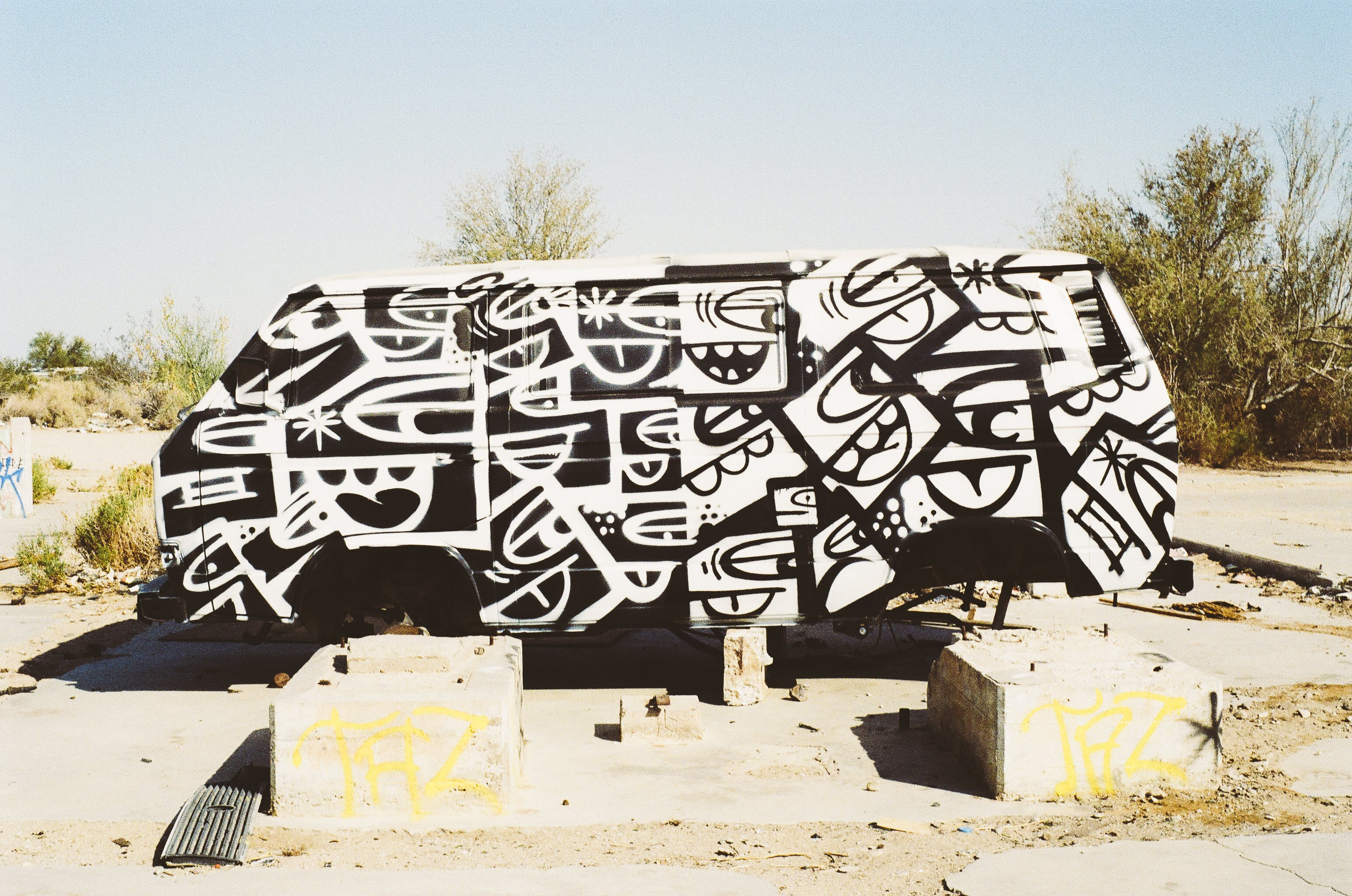Free stock photo of graffiti, car, vehicle, bus
