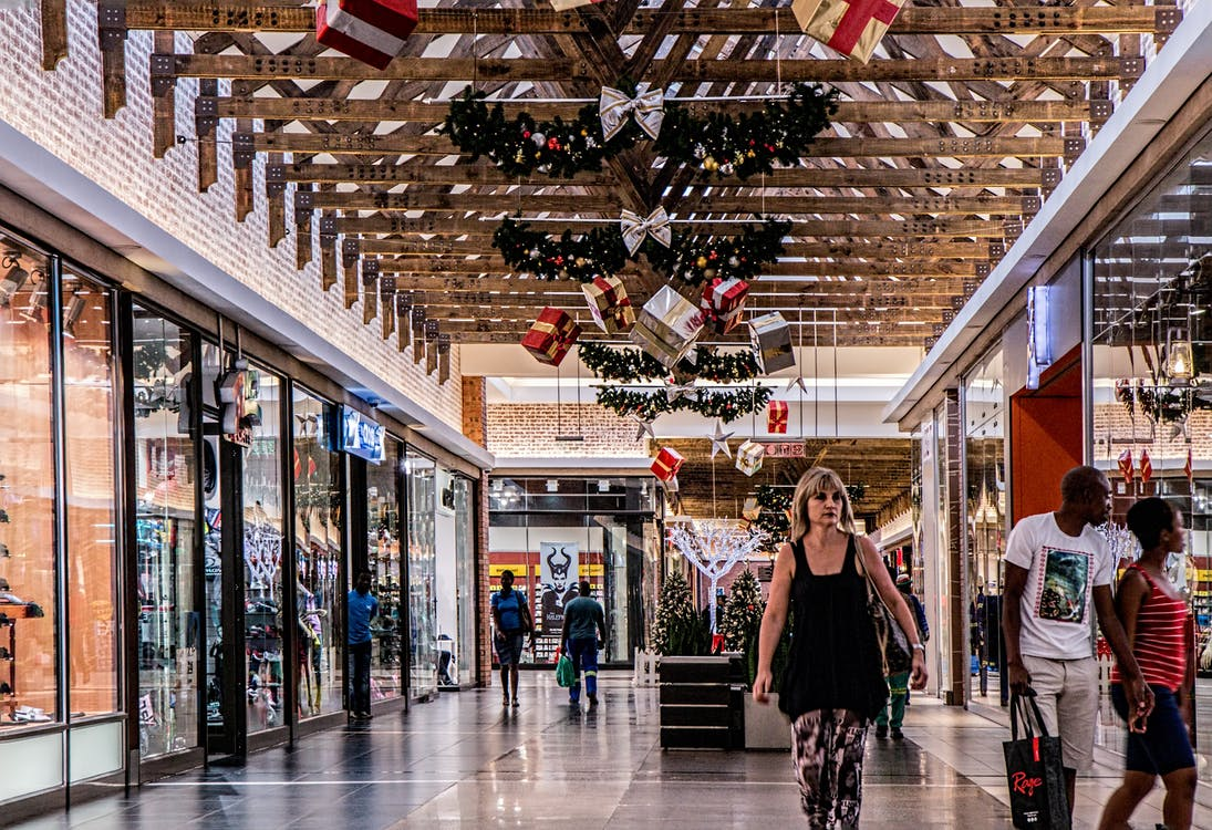 Free stock photo of center, christmas shopping, commerce