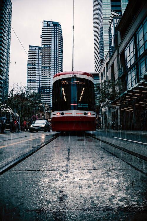 Ilmainen kuvapankkikuva tunnisteilla downtown toronto, julkinen liikenne, katuauto, keskusta