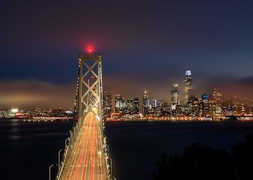 Free stock photo of #night, Bay Bridge, bridge, busy