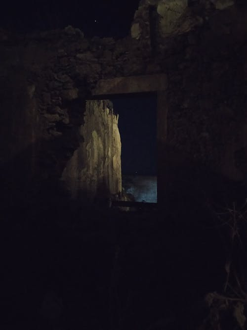 Free stock photo of night, ruins