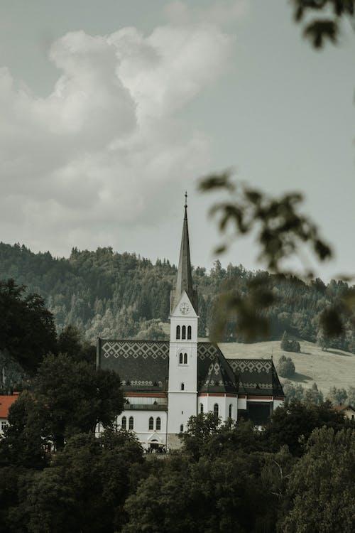 Základová fotografie zdarma na téma církev, jezero, katolický kostel, léto