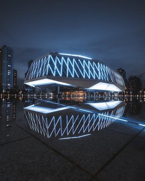 Immagine gratuita di architettura, centro città, città, crepuscolo