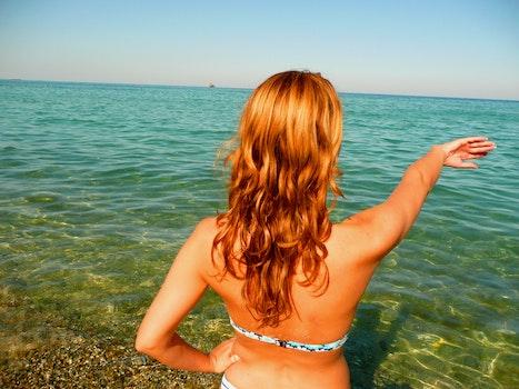 Free stock photo of sea, sky, person, beach