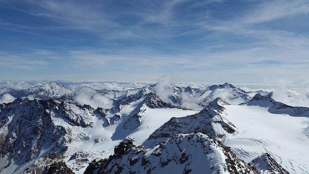 Kostenloses Stock Foto zu kalt, gletscher, schnee, landschaft