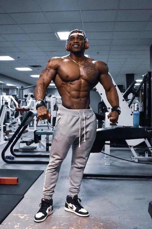 afroameričan, biceps, černoch