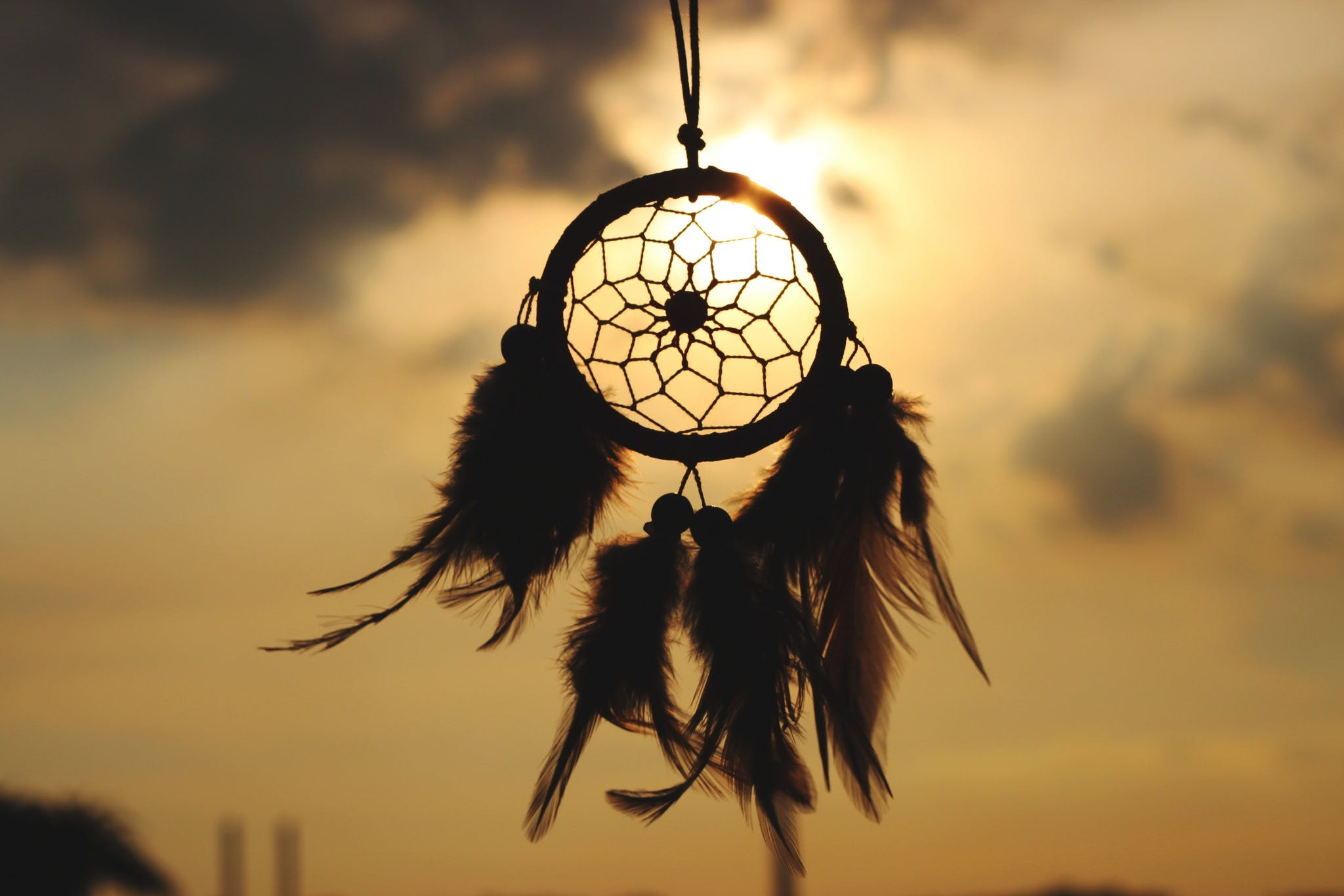 Silhouette of Feather Dreamcatcher