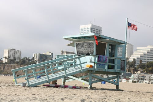 Free stock photo of beach, life guard, los angeles