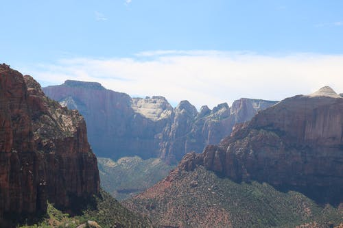 Free stock photo of blue sky, red rocks, view, zion