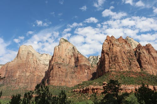 Free stock photo of blue sky, cliffside, national park, red rock