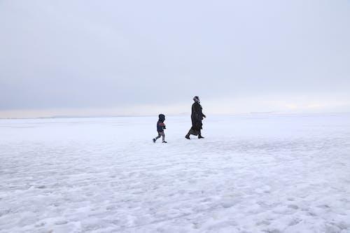 Immagine gratuita di ghiaccio, inverno, madre e figlio, tacchino