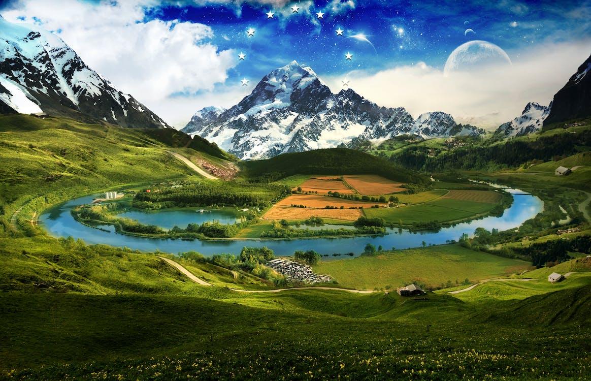 HD tapeta, hora, idylický