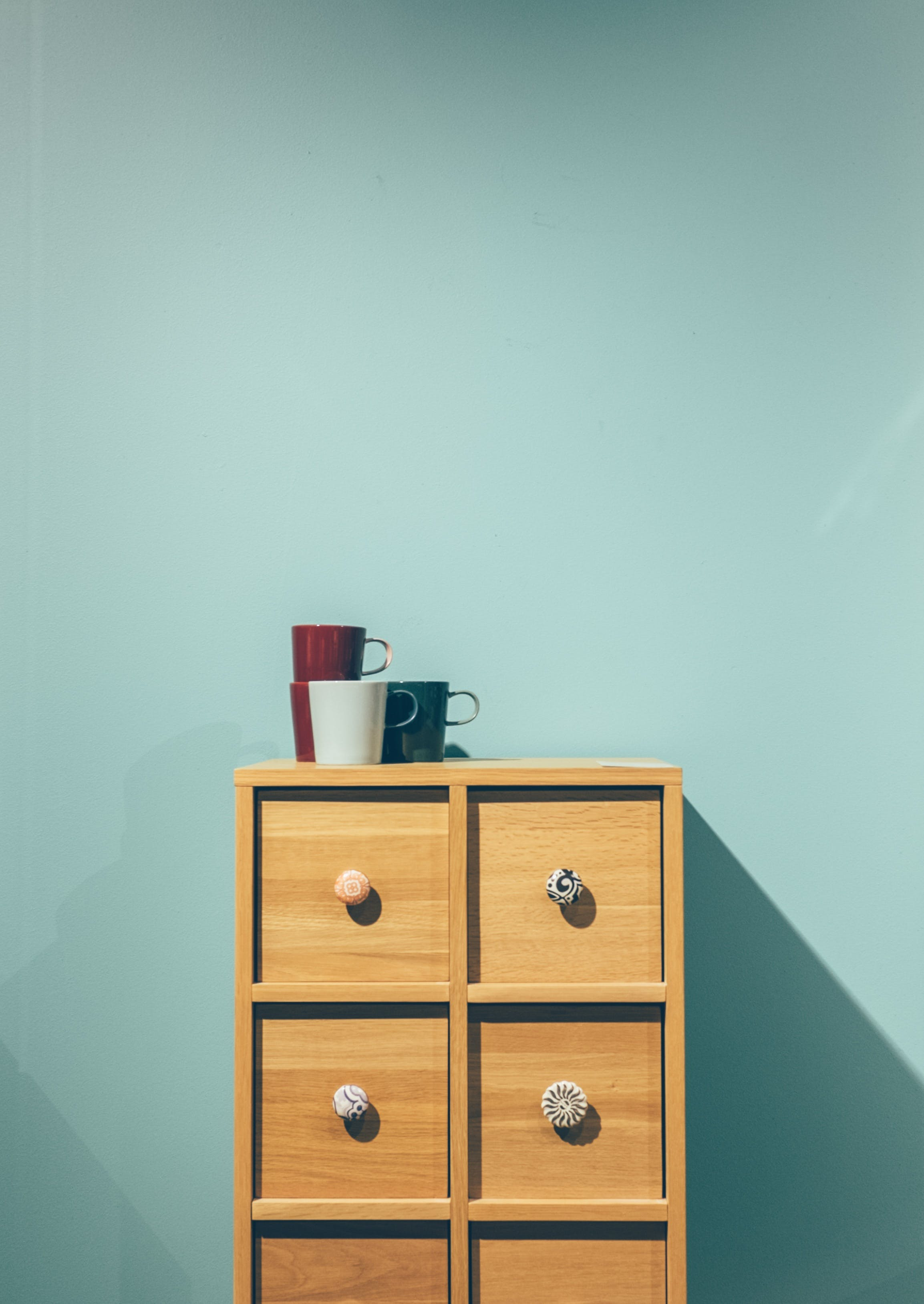 cabinet, contemporary, cups