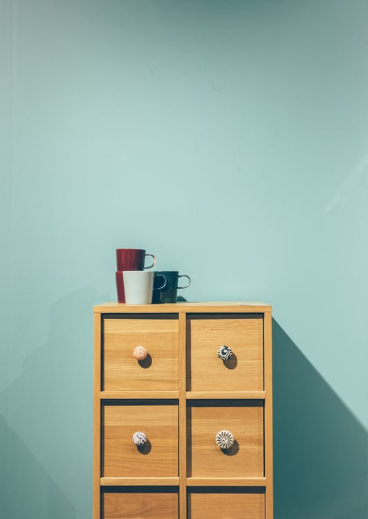 Brown Wooden Dresser