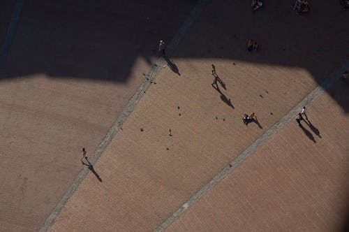 Free stock photo of looking down, people from above, plaza, Sienna