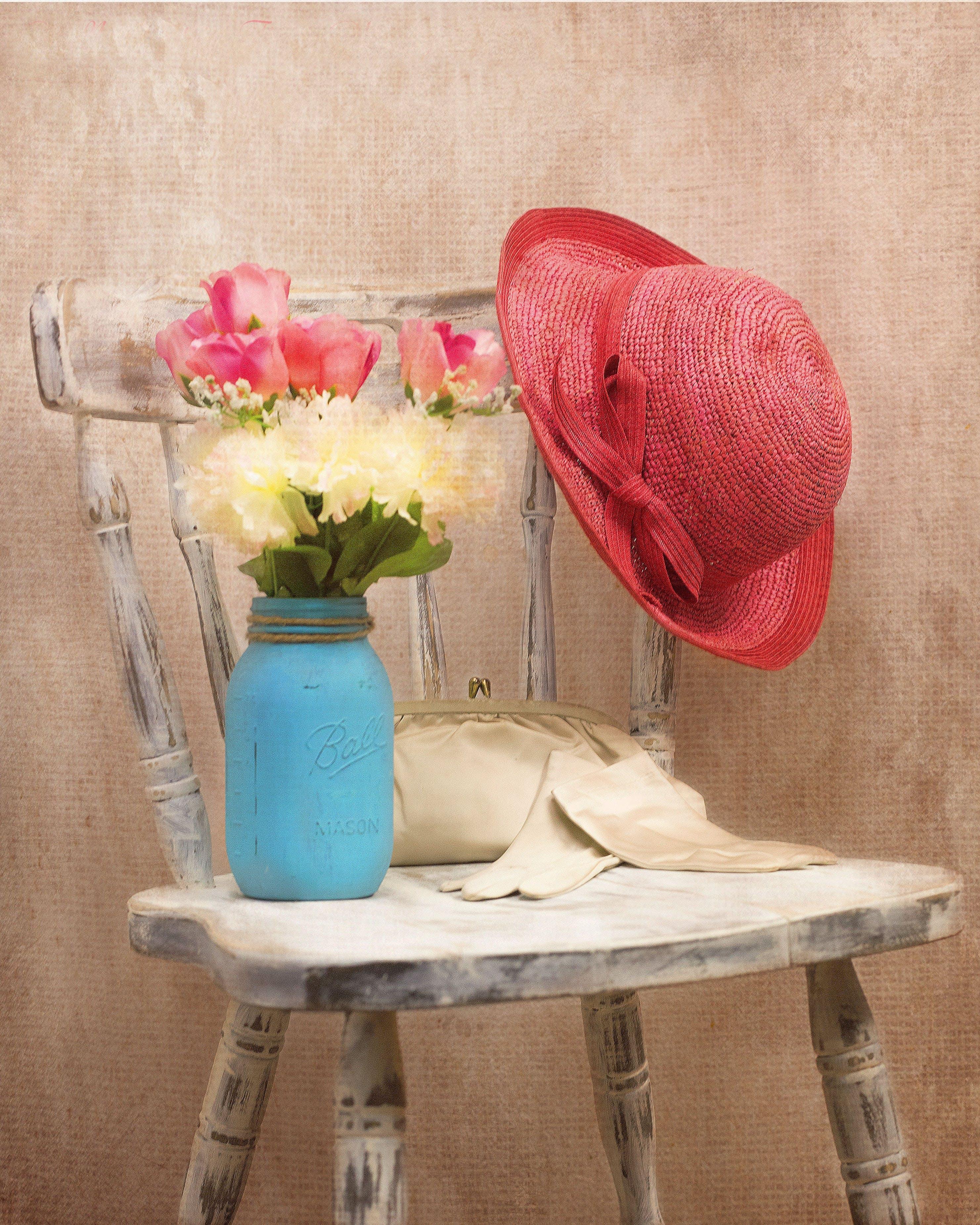Kostnadsfri bild av blommor, flora, hatt, rustik