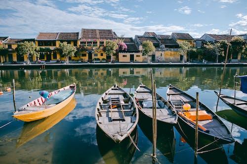 Бесплатное стоковое фото с вода, водный транспорт, дерево, дома
