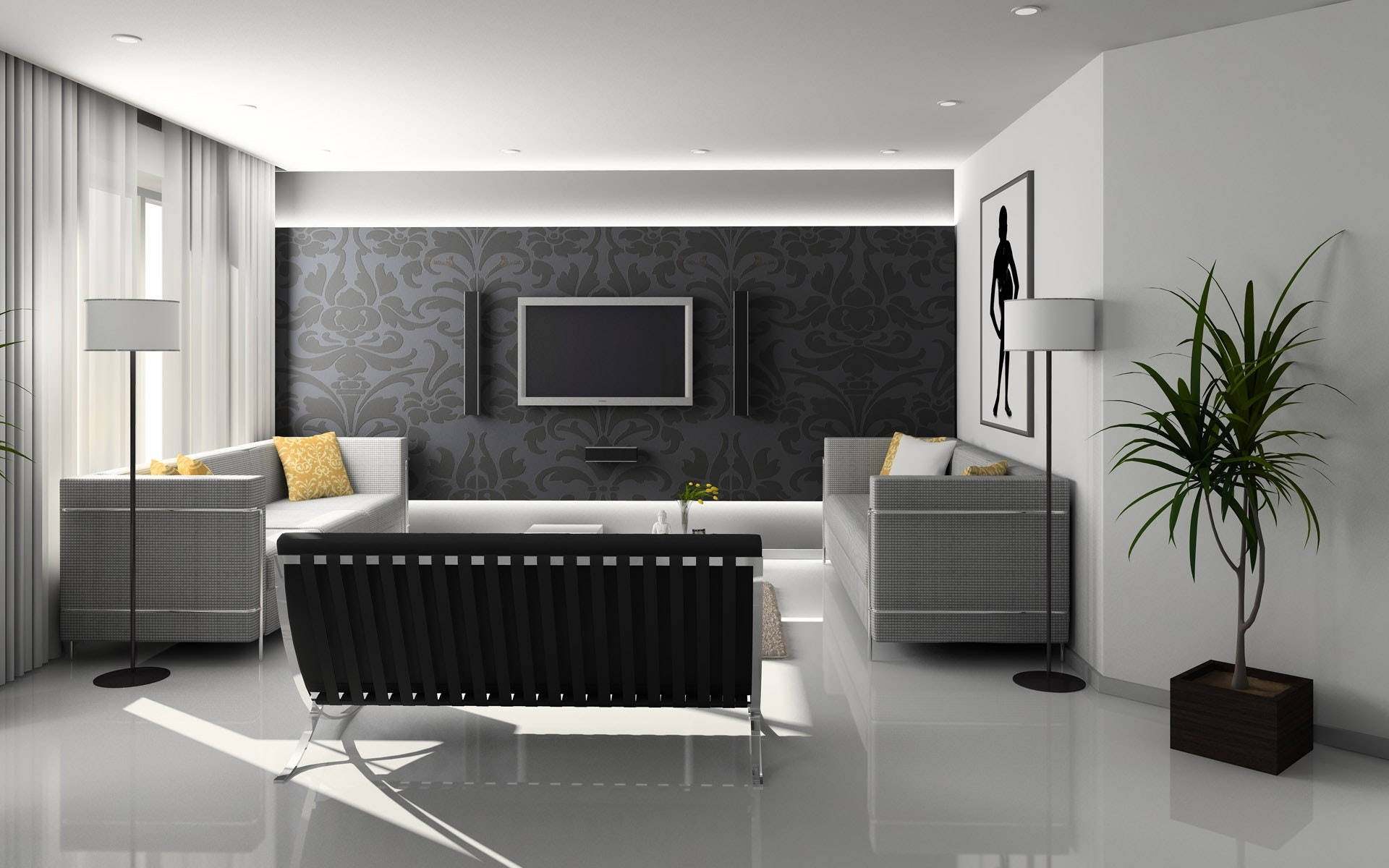 best wall grey modern living design tv for room cool lcd designs units interior black unit of