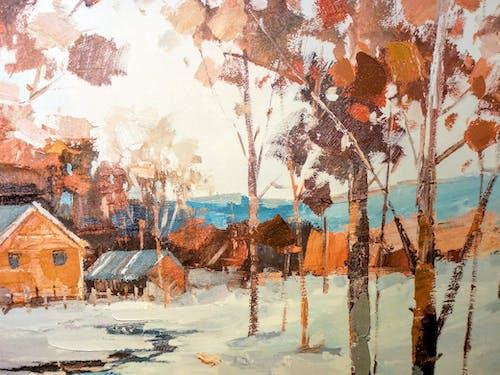 Ingyenes stockfotó barna, fák, fehér, festés témában