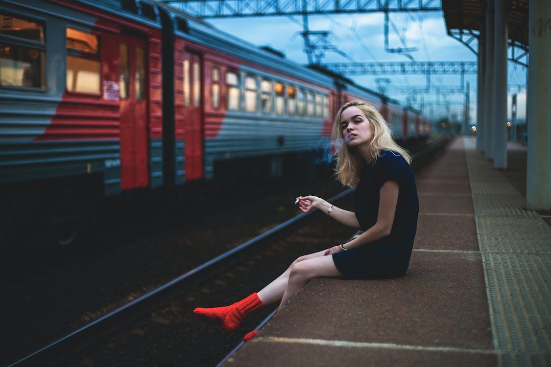 дым, железная дорога, железнодорожная станция