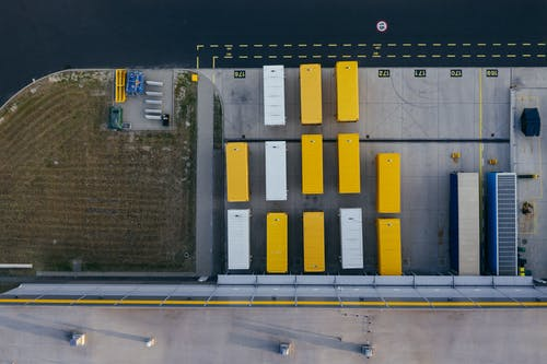 Aerial Photography of a Containers
