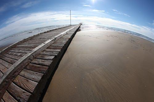Бесплатное стоковое фото с берег, вода, восход, деревянные доски